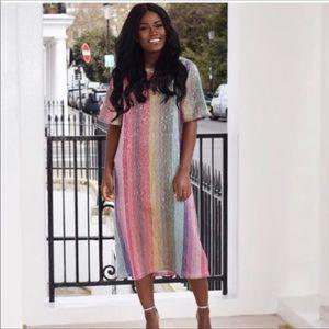 NWT ZARA Rainbow 🌈 Sequin dress